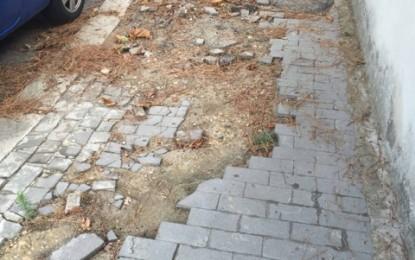 Moroni: l'Amministrazione dimentica i problemi veri della città. Strade e marciapiedi dissestati