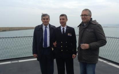Sulla nave Maestrale col Presidente D'Alfonso per parlare di Macroregione Adriatico-Ionica
