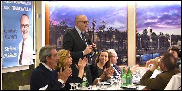 Valentina Vezzali a Francavilla per sostenere Stefano Di Renzo