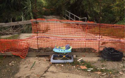 Ortona: Iniziati i lavori di demolizione del ponte sul fiume Arielli