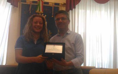 Ortona: la pallavolista Federica Bruni premiata dall'Amministrazione
