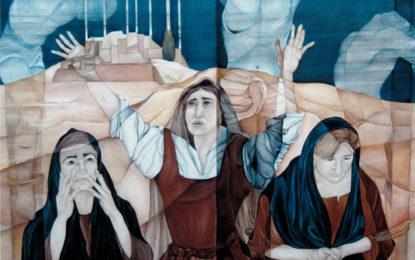 L'artista Nicola Falcone dona una sua opera alla chiesa di San Franco