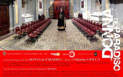 """Settimana santa ortonese: domani """"Donna de Paradiso"""" di Jacopone da Todi"""