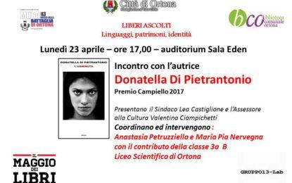 Donatella Di Pietrantonio a Ortona per la giornata mondiale del libro