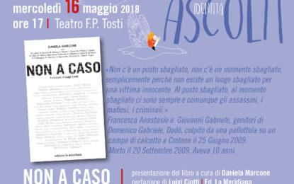 """Al Tosti Daniela Marcone, vicepresidente di """"Libera contro le mafie"""""""