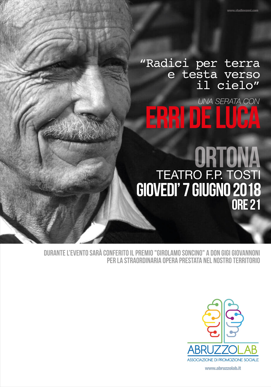 LA TORRE – Erri De Luca ad Ortona giovedì 7 giugno