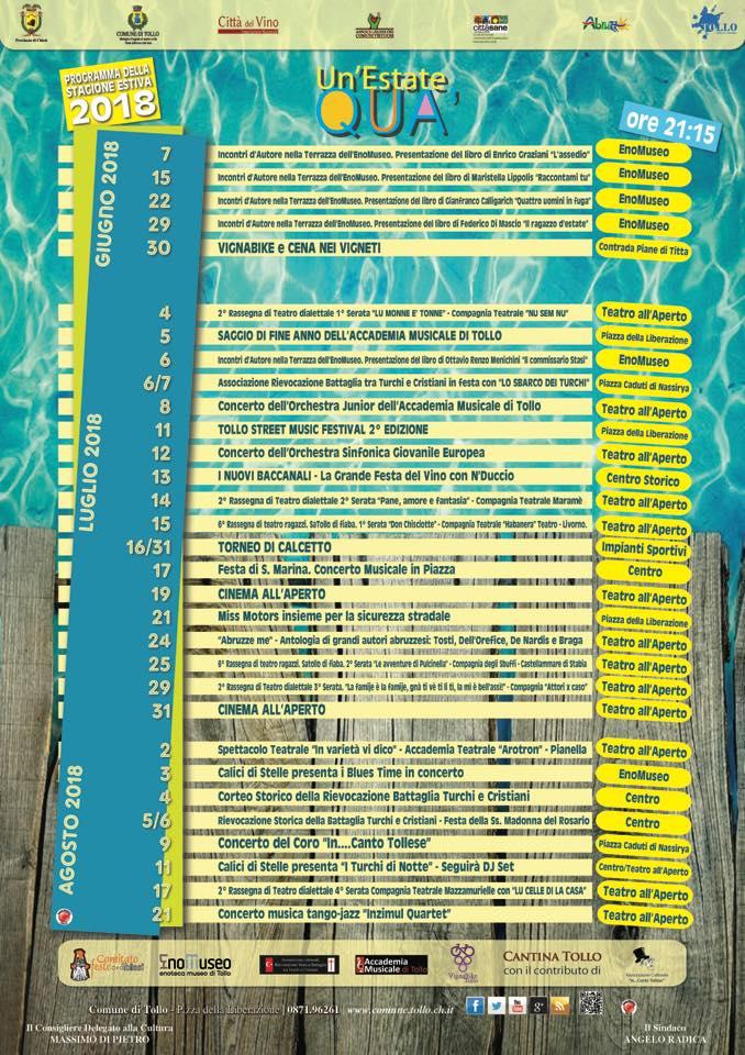 Tollo: presentato il programma degli eventi estivi