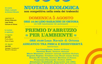 """Ad Ortona la ventiduesima edizione della """"Nuotata Ecologica"""" domenica 5 agosto"""