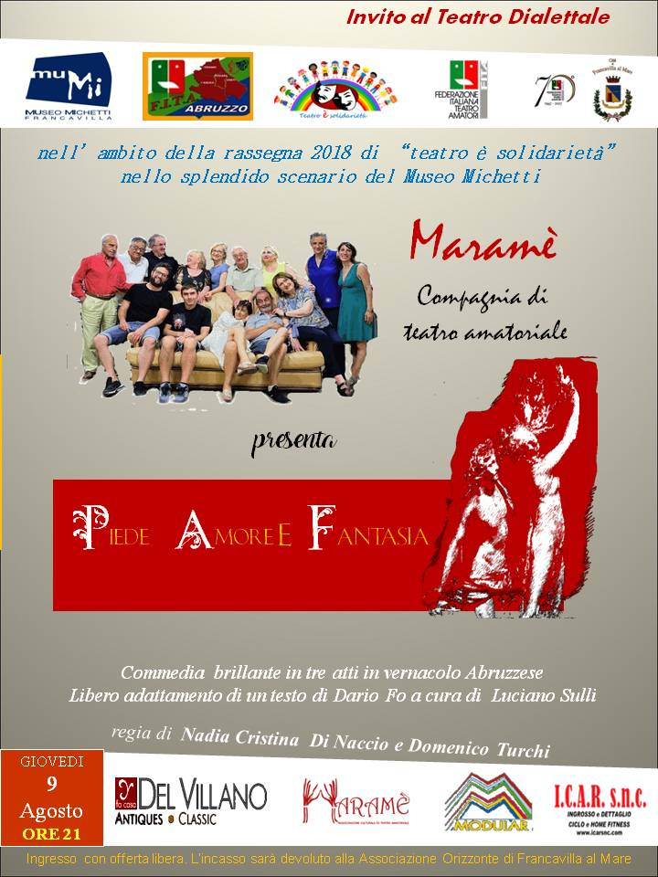 "Maramè presenta ""Piede Amore e Fantasia"" stasera al Mumi"