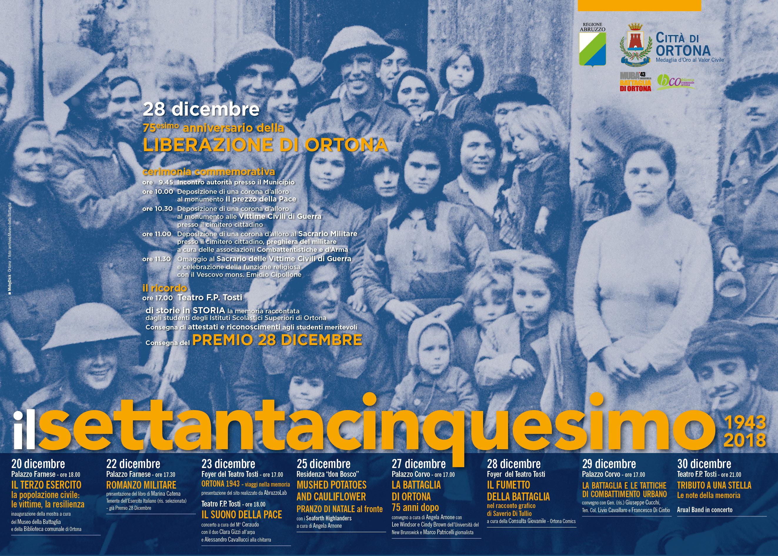 """""""Il terzo esercito"""" apre le celebrazioni per il 75esimo anniversario della Battaglia di Ortona"""