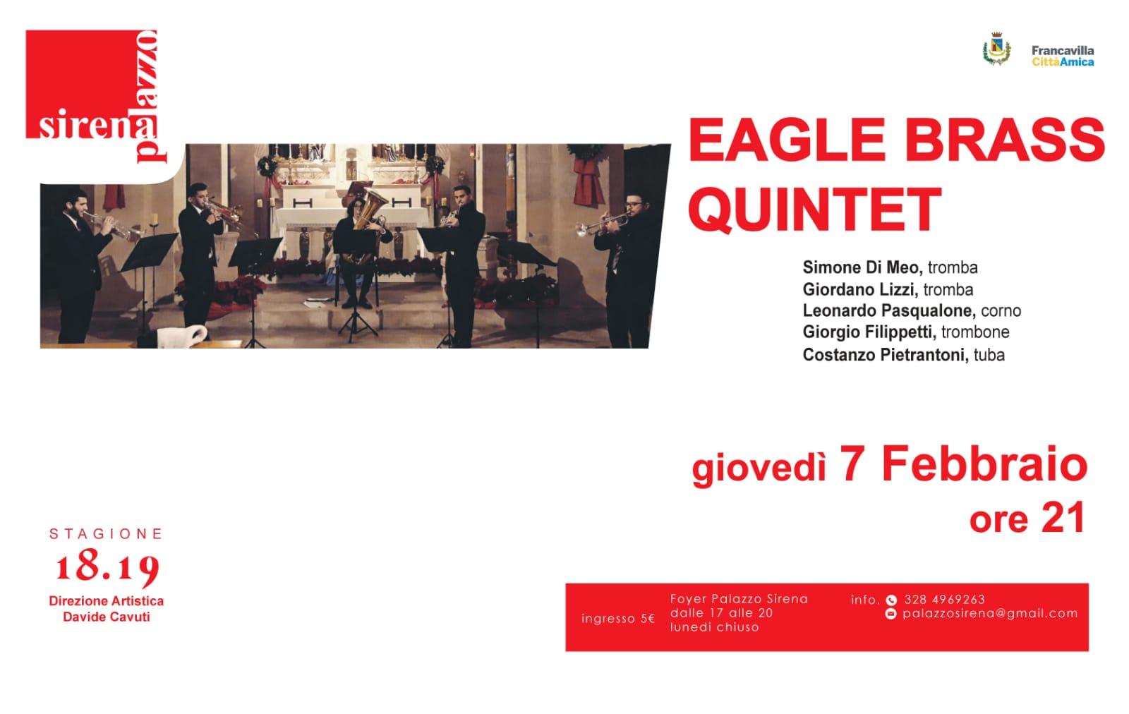 Eagle Brass Quintet nella Rassegna Giovani Concertisti di Palazzo Sirena