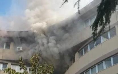 Incendio doloso al Bernabeo: in corso gli accertamenti dei Vigili del Fuoco