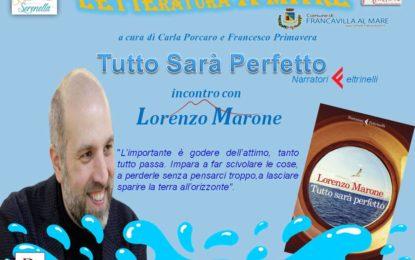 """Lo scrittore Lorenzo Marone a Francavilla per """"Letteratura a Mare"""""""