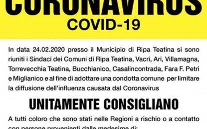 Torrevecchia Teatina: le misure preventive per il Coronavirus