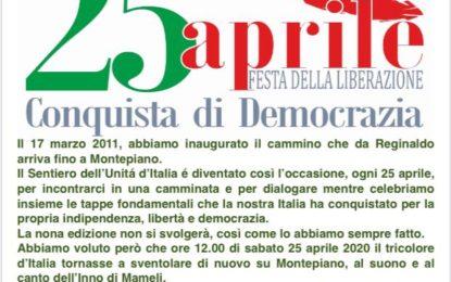 Liberazione: il tricolore su Montepiano al suono dell'inno di Mameli