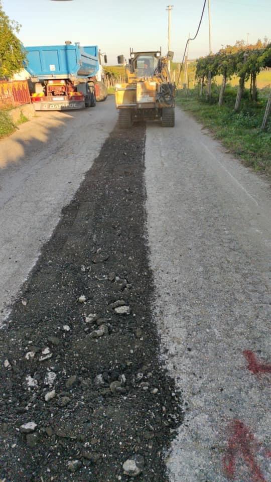 Tollo: nuovo asfalto in via Piane Mozzone