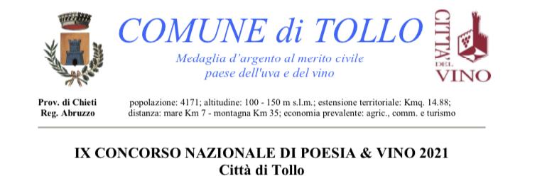 Poesia Città di Tollo: grande partecipazione da tutta Italia