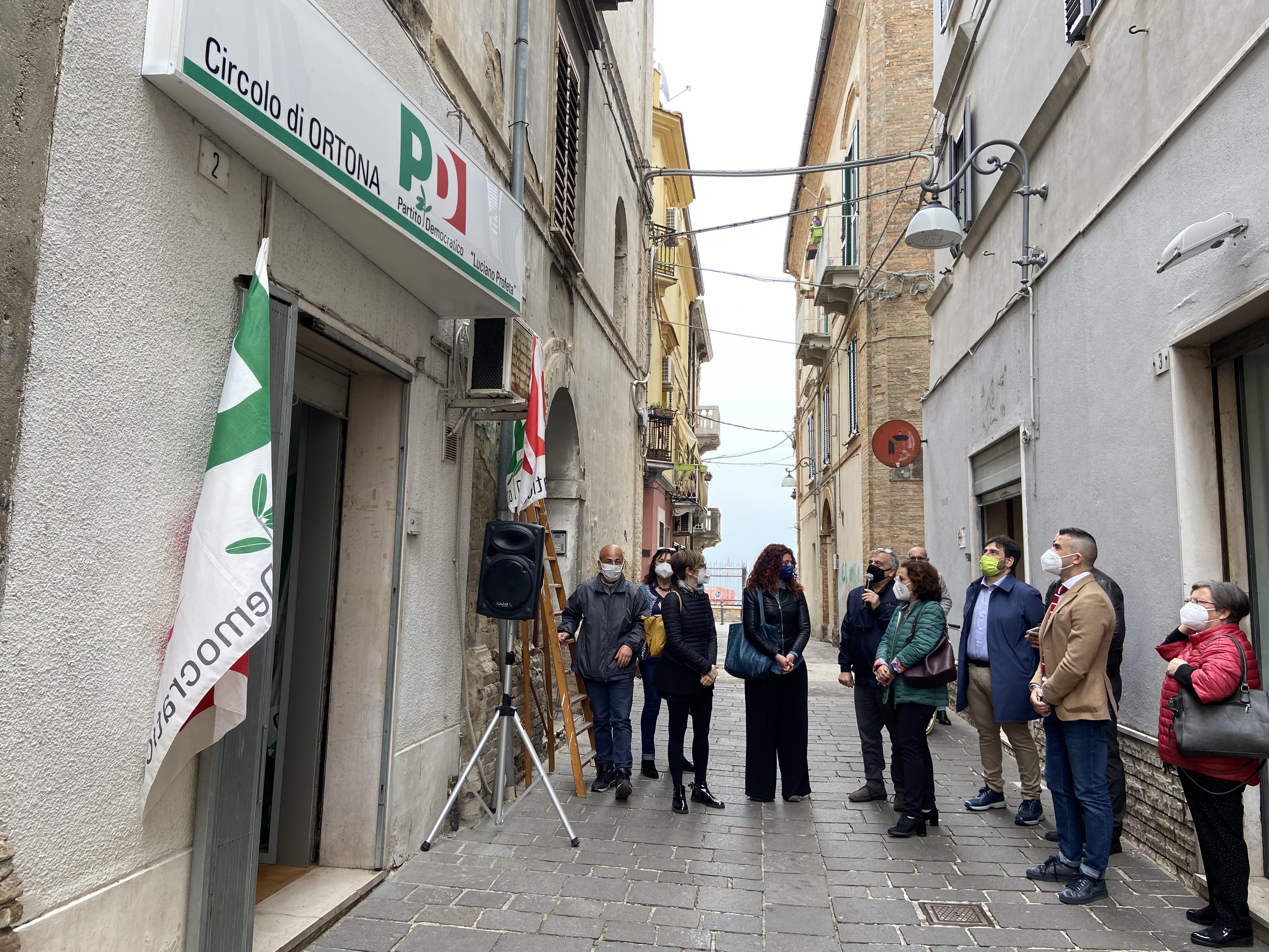 Ortona: il Pd inaugura la sede dedicata a Luciano Profeta