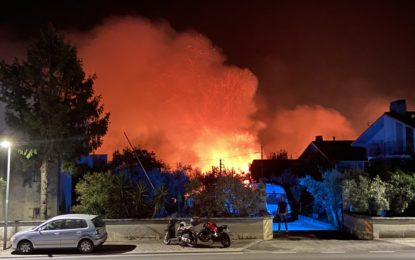 Domenica di incendi a Ortona: diverse zone evacuate